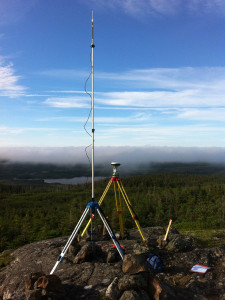 Control survey equipment at Newfoundland project